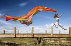 Femme d'arc-en-ciel image libre de droits