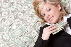 Femme d'argent photo stock