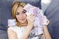 femme d'argent de poignée Images stock