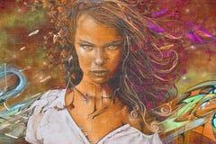 : Femme d'art de rue Photos stock