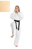 Femme d'arts martiaux Images stock