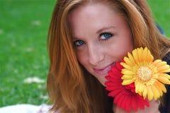 Femme d'automne Photographie stock libre de droits