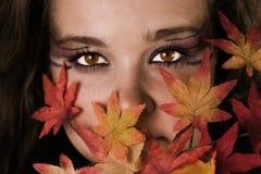 Femme d'automne Images libres de droits