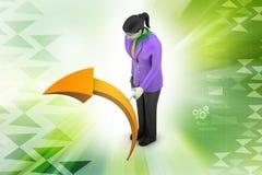 femme 3d avec la flèche Image libre de droits