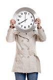 femme d'horloge Images stock
