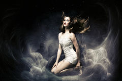 Femme d'imagination images stock