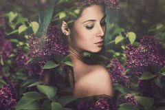 Femme d'imagination Photo stock