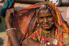 Femme d'Indien de portrait Photo libre de droits