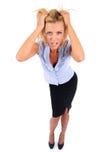 Femme d'isolement d'affaires Photo libre de droits