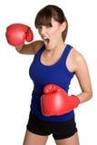 femme d'isolement de boxe image libre de droits