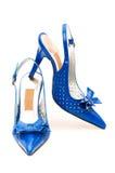 femme d'isolement de chaussures Image stock