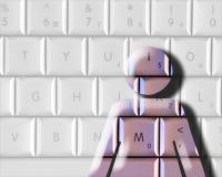 Femme d'ordinateur Image libre de droits