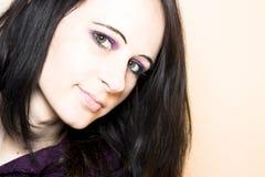 femme d'une chevelure foncée Photographie stock libre de droits