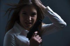Femme dangereux Photographie stock libre de droits