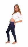Femme dans des jeans images stock