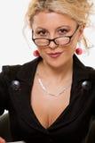 Femme dans des lunettes photo stock