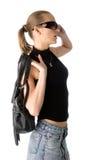 Femme dans des lunettes de soleil Images libres de droits
