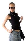 Femme dans des lunettes de soleil Photos stock