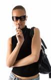 Femme dans des lunettes de soleil Photos libres de droits
