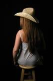 Femme dans dress-7 blanc Photographie stock