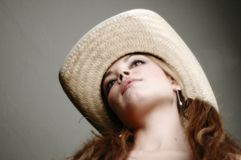 Femme dans dress-7 blanc Image stock