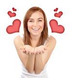Femme dans l'amour Photographie stock libre de droits