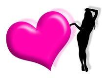 Femme dans l'amour Image libre de droits