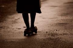 Femme dans l'Ancares Photos libres de droits