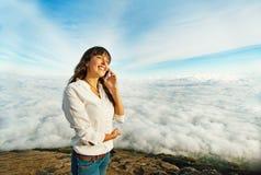 Femme dans l'aventure Photo libre de droits