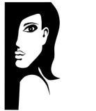 Femme dans l'ombre. Photo libre de droits