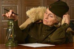 Femme dans l'uniforme Image stock