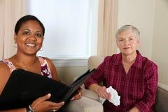 Femme dans la consultation Photos libres de droits