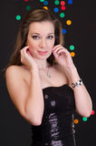 Femme dans la disco Image libre de droits