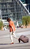 Femme dans la grande ville Image stock
