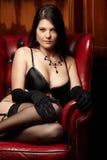 Femme dans la lingerie Images libres de droits