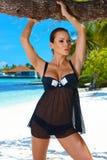 Femme dans la lingerie Photographie stock libre de droits