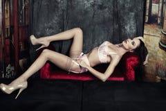 Femme dans la lingerie Image libre de droits