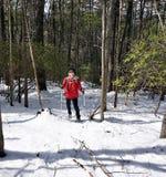 Femme dans la neige Photo libre de droits