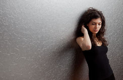 Femme dans la peine Photographie stock libre de droits