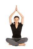 Femme dans la pose de yoga Photo stock