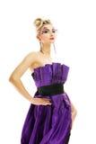 Femme dans la robe à la mode photographie stock libre de droits