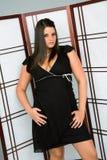 Femme dans la robe photographie stock