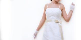 Femme dans la robe blanche Photographie stock