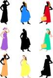 Femme dans la robe d'été illustration stock