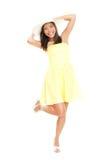 Femme dans la robe d'été images libres de droits