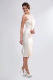 Femme dans la robe de forme-montage Image libre de droits