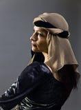 Femme dans la robe de la Renaissance image stock