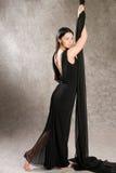 Femme dans la robe de soirée Photo stock
