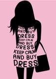 Femme dans la robe des citations Images libres de droits