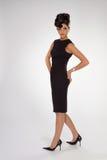 Femme dans la robe noire Image libre de droits